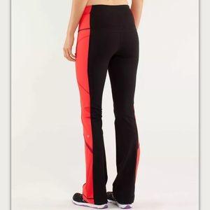 Lululemon Run: Ice Queen Pant Black / Love Red